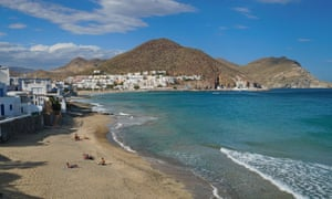 Spain on holiday: a day at the beach in San José, Almería